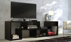 details sur meuble tv modulable en rangement table basse etageres