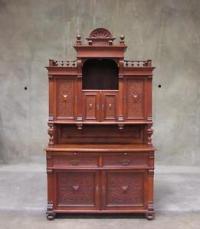 4325 : Antique German Austrian Oak Victorian Sideboard