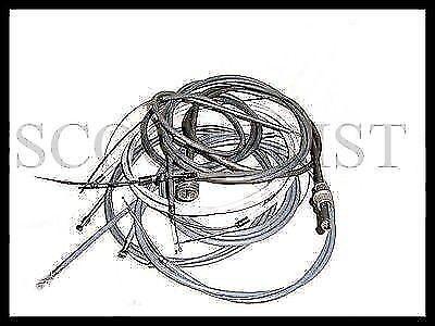 Vespa Throttle Gear Speedo Brake Control Cable Kit VBB VNB