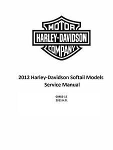 2012 Harley Davidson Softail Models Factory Service Shop