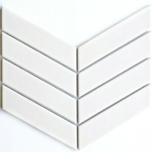 details about matte white chevron porcelain mosaic for wall and floor tile