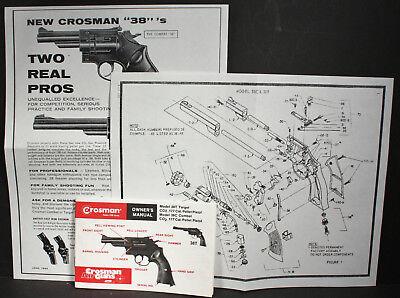 Crosman Models 38t 38c Pellet Pistol