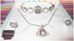 details about love set ashley princess timeless collection necklace earring watch freebattery