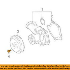 Mitsubishi 2 4l Engine Diagram Fuse Block Wiring Oem 00 05 Eclipse L4 Water Pump Pulley Bolt 3200a119 Image Is Loading