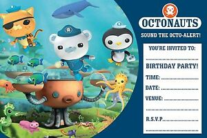 details about octonauts birthday party invitations 10 20 30 or 40 envelopes a6
