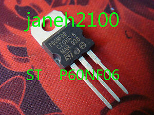 5pcs STP60NF06 P60NF06 MOSFET TO-220