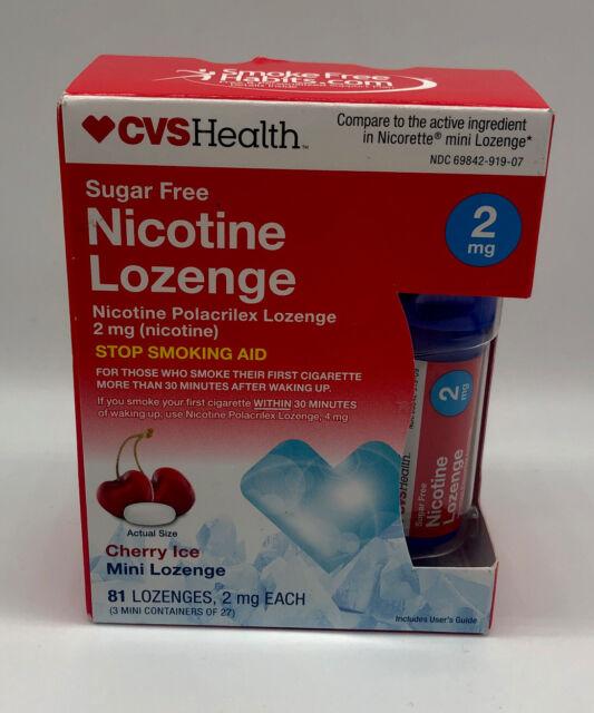 CVS Nicotine Lozenge 2mg Cherry Ice Flavor 81 Each BB 2020 ...