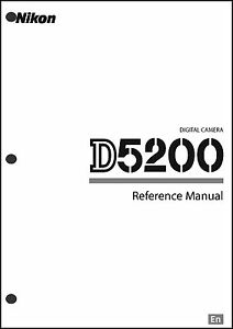 Nikon D5200 User Manual Guide Instruction Operator Manual