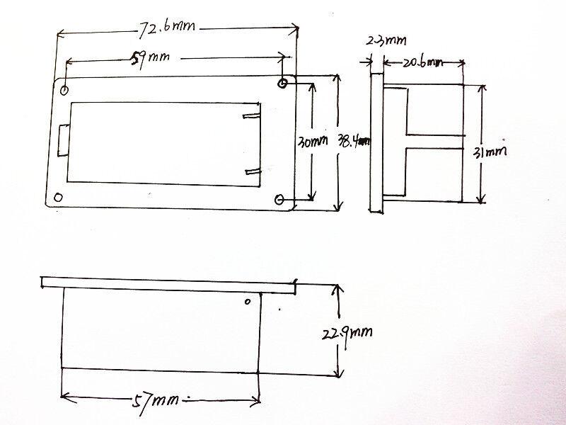 9V Guitar Battery Holder Cover Case Box For Active Guitar