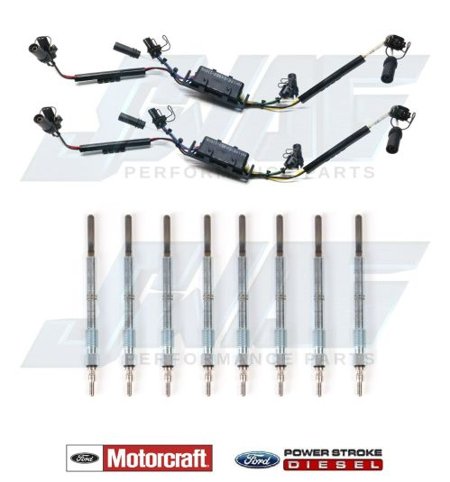 small resolution of details about 99 03 ford 7 3l powerstroke diesel injector wire harness set with glow plugs