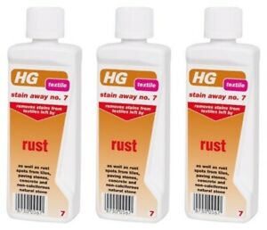 details about 3x hg stain away 7 rust remover textile pave path deckstone tiles fabric cleaner