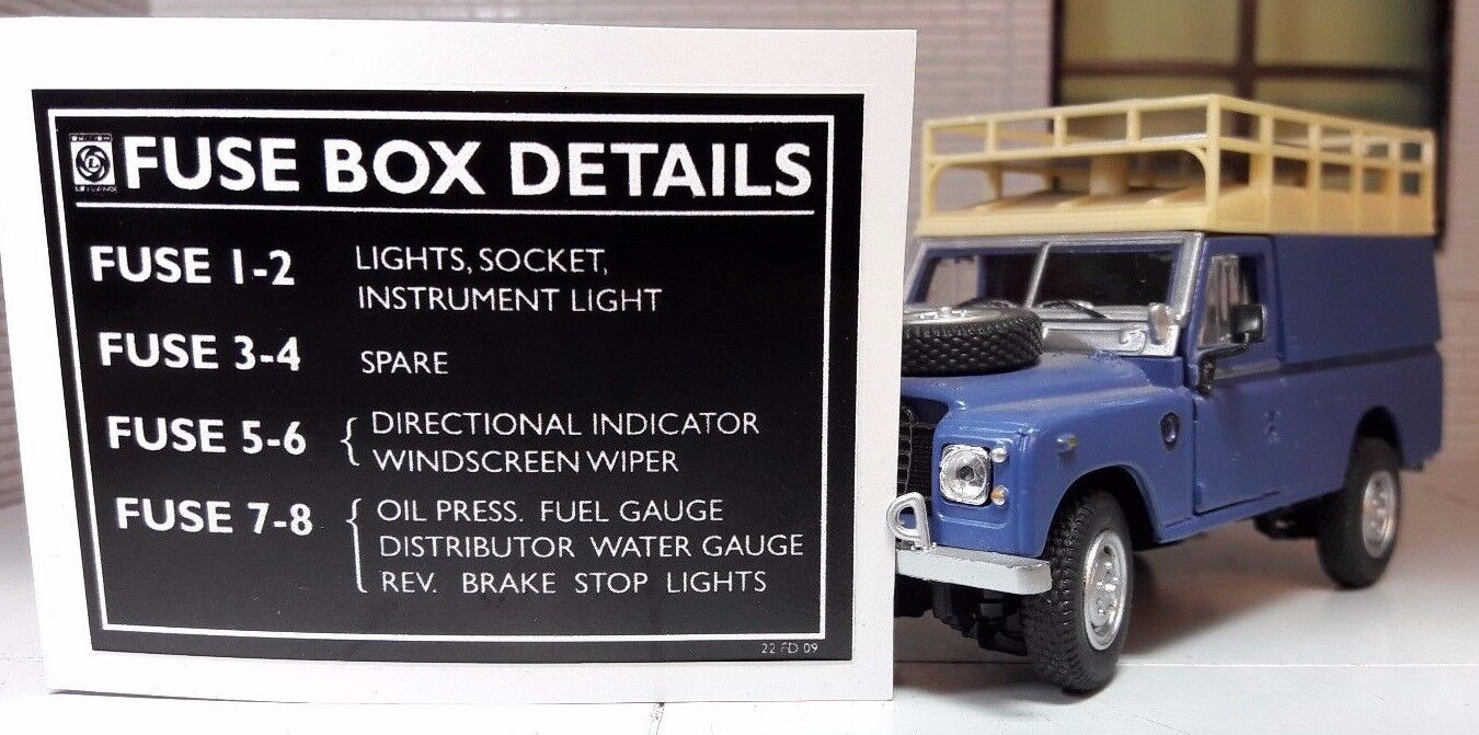 hight resolution of land rover series fuse box wiring diagram sys land rover series 2 fuse box location land