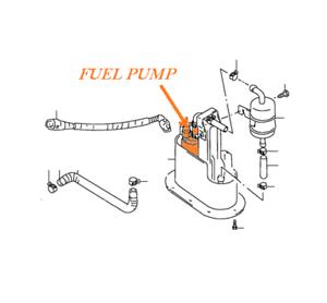 Suzuki 96-99 GSX-R 750 SRAD fuel pump 15100-33E50 bomba