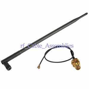 2.4GHz 12dBi Omni WiFi antenna RP-SMA + Pigtail for Wlan