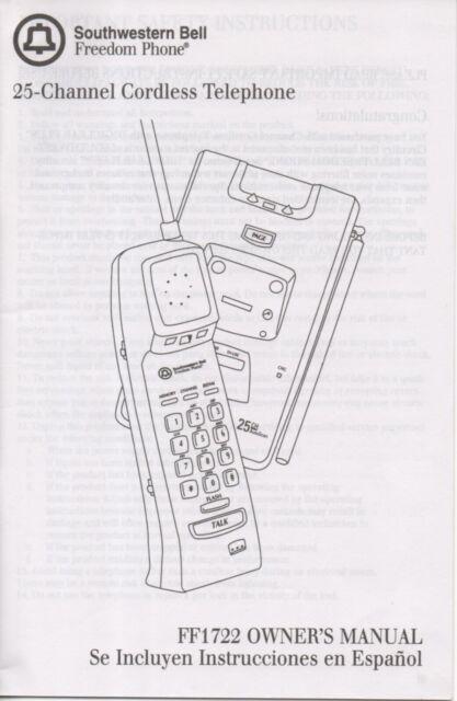 Southwestern Bell Freedom Phone Handbook Manual Vintage