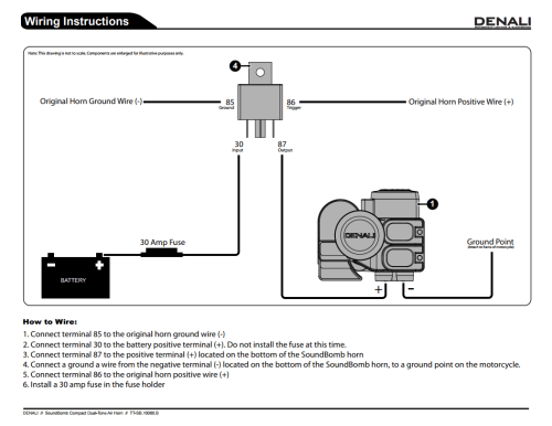 small resolution of motorcycle air horn wiring diagram