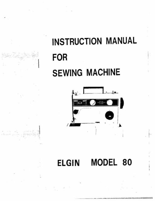 White W80-Elgin Sewing Machine/Embroidery/Serger Owners