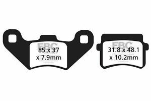 FIT KAZUMA QUADS MF90 Falcon EBC REAR ORGANIC BRAKE PADS