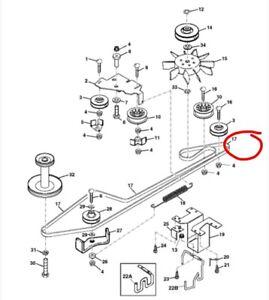 John Deere Getriebe Motor zu Antriebsriemen LTR155 LTR166