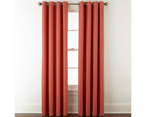 details about jcpenney home quinn basketweave room darkening grommet 1 single curtain panel