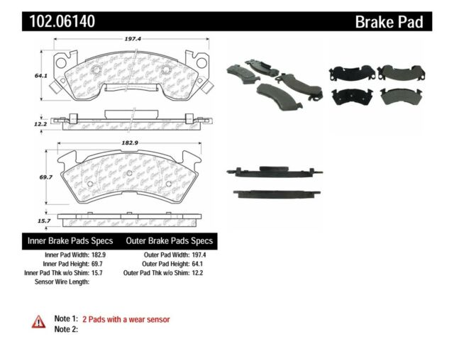 Disc Brake Pad-C-TEK Metallic Brake Pads Front Centric 102