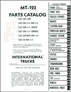 INTERNATIONAL SCOUT PARTS MANUAL SERVICE REPAIR SHOP TRUCK