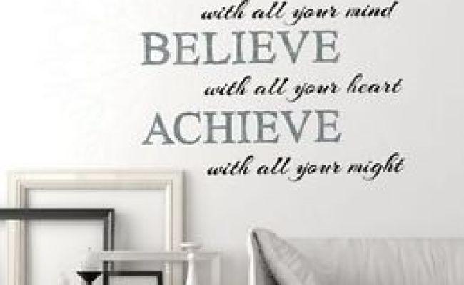 Imagine Believe Achieve Inspirational Wall Sticker Art