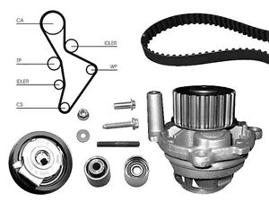 Water Pump And Timing Cam Belt Kit Replacement Part For