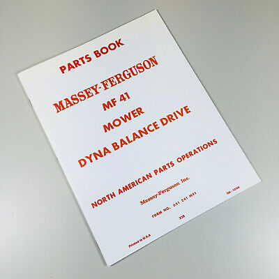 41 Mf41 Sickle Bar Mower Parts Manual