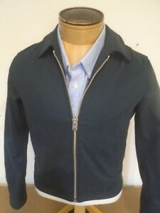 Rag Amp Bone Carbon Navy Cotton Blend Garage Jacket 595 X Small Made In Usa