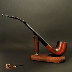 "WOODEN TOBACCO SMOKING PIPE CHURCHWARDEN 10"" Brown Lotr"