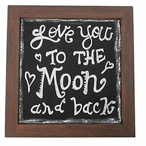Craft Outlet Love The Moon Chalkboard Style Wooden Sign 12 By 0 5 By 12 Inch Ebay