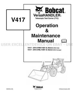 Bobcat V417 VersaHandler Printed Operation Maintenance