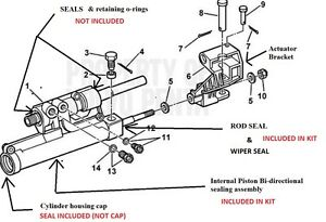 Actuator Repair kit Volvo Penta Power Steering 3860726