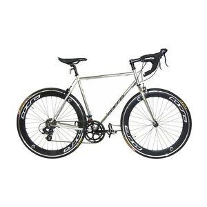 NEW 58cm Silver Chrome Corsa R14D 14-Speed Road Bike
