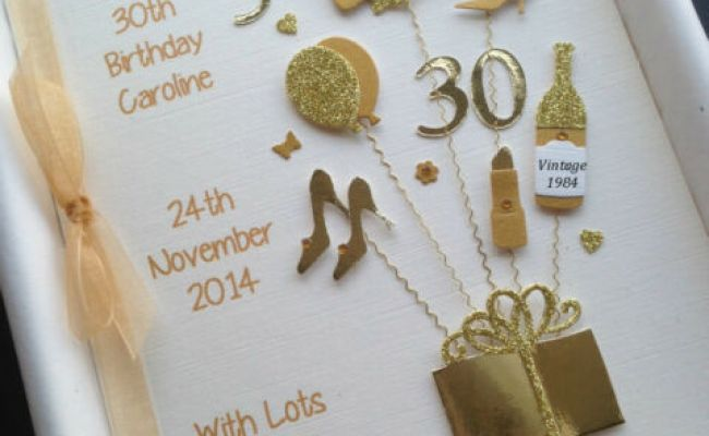Personalised 30th Birthday Card For Daughter Wife Sister