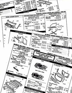 1981 1982 1983-1985 MERCEDES BENZ 300SD 380SE SEL 500SEL