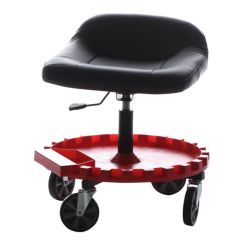 Garage Chairs Rolling Blue Bungee Chair Mechanics Creeper Seat Work Stool Tool Tray Traxion 2 230 Monster Gear
