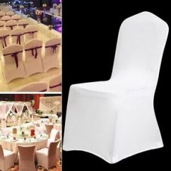 Chiavari Chair Covers Ebay Pedestal Office 1 20 50 100 Universal Spandex Fitted Folding Wedding Details About Party Banquet