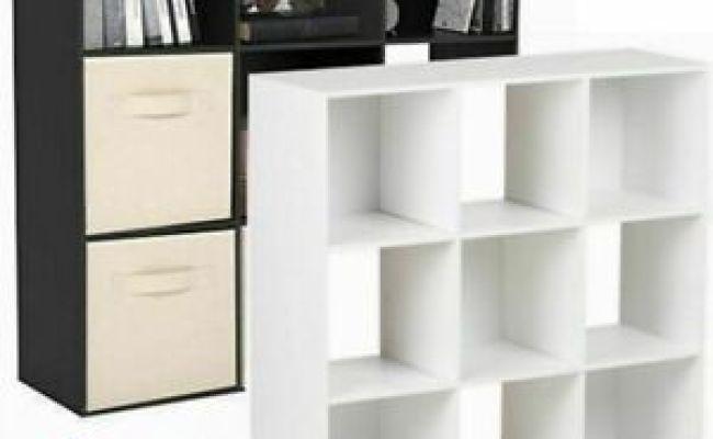 9 Cube Kids Black White Toy Games Storage Unit Girls
