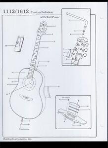 Ovation Custom Balladeer 1112/1612 Guitar With Rod Cover