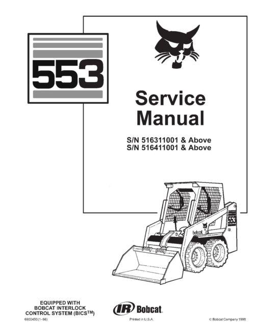 Bobcat workshop service repair manual 553 SKID STEER