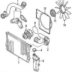 2000 Ford Explorer Radiator Diagram Honda Rancher 350 Carburetor Bmw X5 Hose Wiring Diagrams Oem 01 06 Coolant Lower 11537508688 Ebay