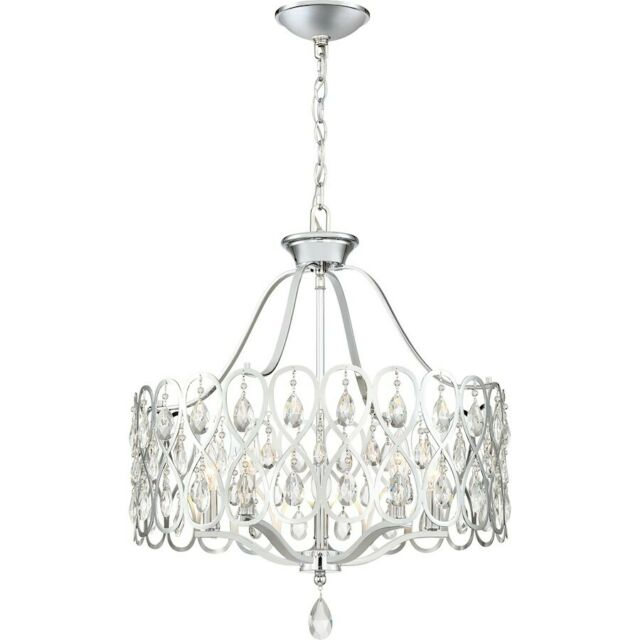 Quoizel Lulu 5 Light Chandelier, Polished Chrome
