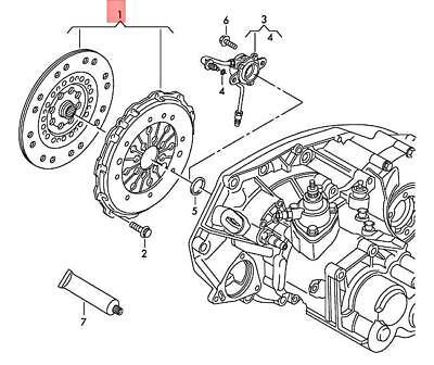 Genuine AUDI Q3 Clutch Plate And Pressure Plate See