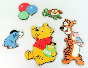 Vintage Winnie Pooh Friends Wall Decoration Pressboard Tigger Eeyore Piglet Owl Ebay