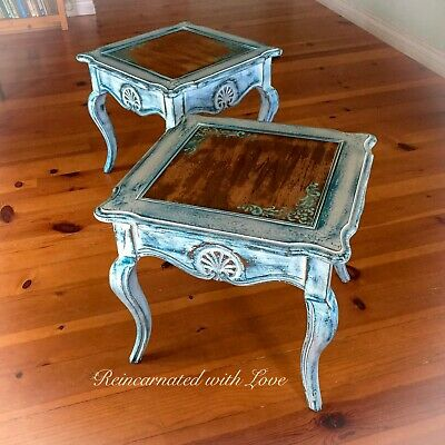 matching shabby chic side tables white end tables french side tables set ebay