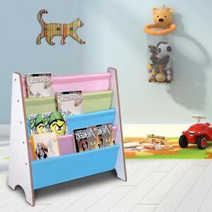 details about kids wooden bookcase rack storage book shelf tidy childrens bedroom playroom