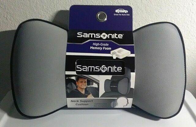 samsonite neck support cushion pillow high grade memory foam