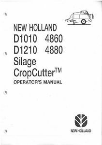 NEW HOLLAND BALER D1010 D1210 4860 & 4880 OPERATORS MANUAL